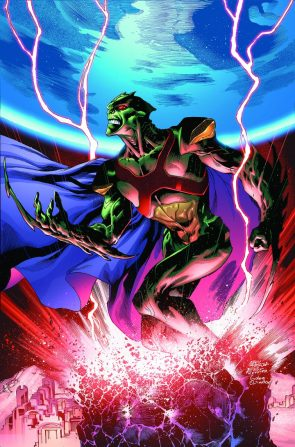 Martian Manhunter is red electric