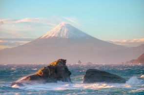 Mount Fuji as seen from the sea