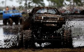 Muddy Truck Muddin in Mud