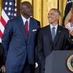 Obama and Michael Jordan