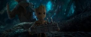 baby groot stealing a bomb