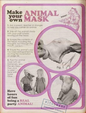 make your own animal mask