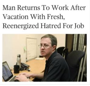 man returns to work