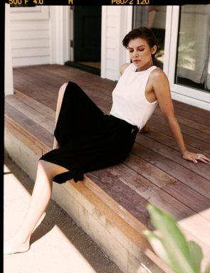 Lauren Cohan in white top