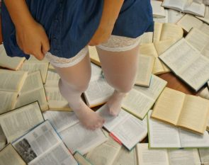 stockings and books