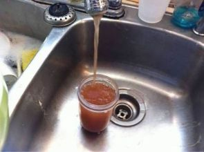 why is our water brown