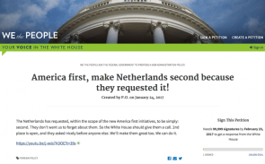 America First, Netherlands second
