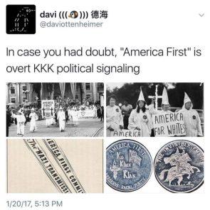 America First is overt KKK