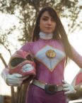 Angela Domanica as the Pink Ranger
