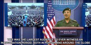 Bagdad Sean reports on inauguration numbers
