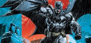 Batman in the rain