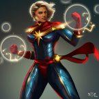 Captain Marvel by Arkenstellar