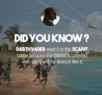 Did you know why Vader wasn't in the Scarif Battle