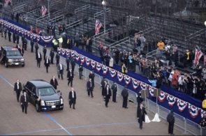 Donald trump's empty parade