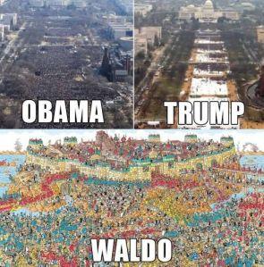 Obama, Trump, Waldo