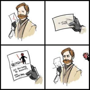 Obi-wan's love letter
