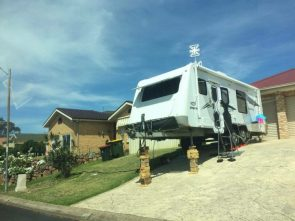 Precarious Trailer Parking