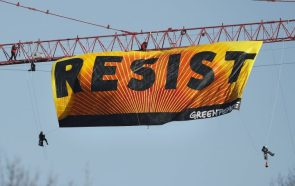 Resist Flag up close