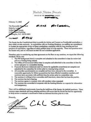 Schumer's Letter to Mitch