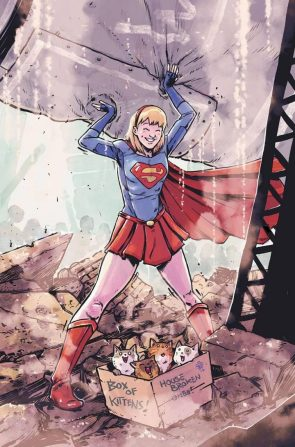Supergirl found some kitties