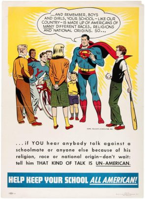 Superman says to keep your school all american