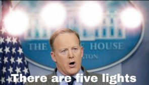 There are five lights