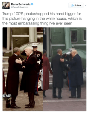 Trump didn't photoshop his hands, it's a hoax