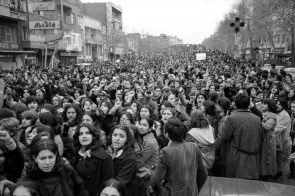 Women protesting forced hijab