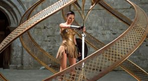 Wonder Woman stealing a sword