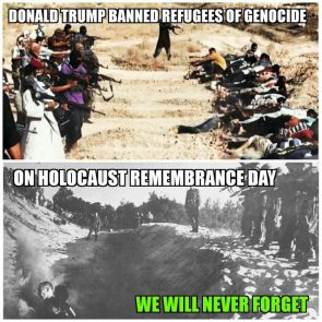 donald trump disrespected genocide survivors