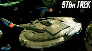 star Trek Enterprise in space with space balls