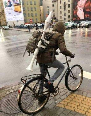 well armed biker