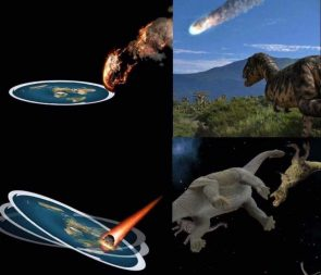 Flat Earth Society explains the end of the dinosaurs