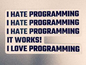 I hate programming