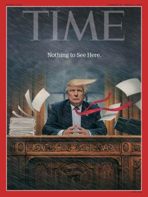 Time cover for trump