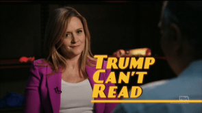 Trump Can't Read