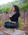 one foot wine yoga