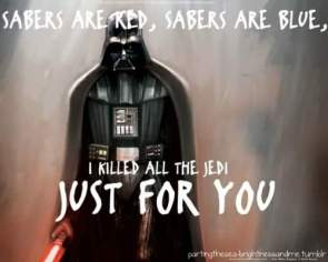 sabers are red