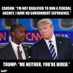 trump and carson have no experience in government