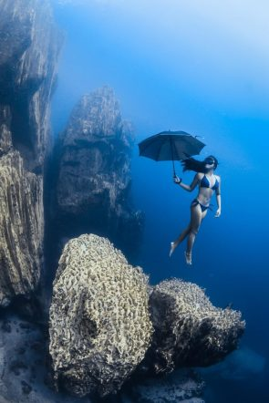underwater umbrella