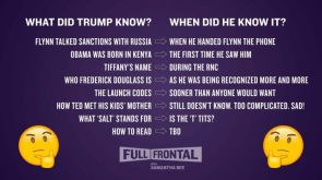 what did trump know and when did he know it