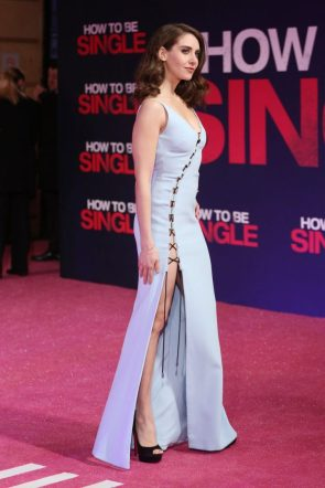 Alison Brie – How To Be Single in a nice blue dress