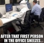 After the first person in the office sneezes