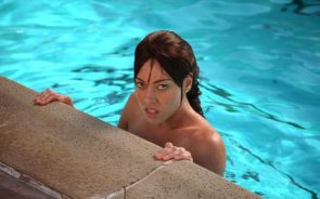 Aubrey Plaza in a pool