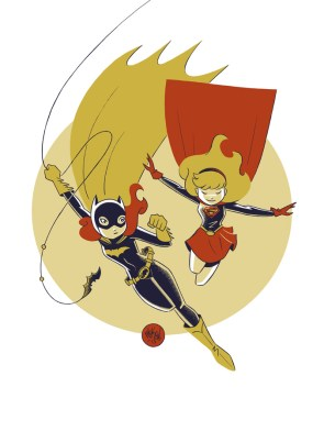 Batgirl and Supergirl by Mike Maihack