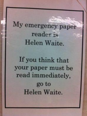 Emergency paper reader