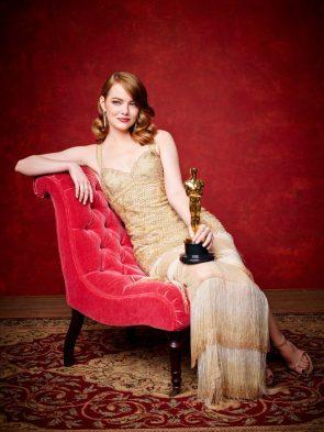 Emma Stone with her Oscar