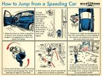 How to jump from a moving car