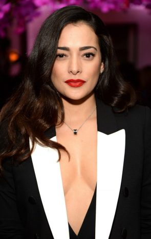 Natalie Martinez in a revealing tux