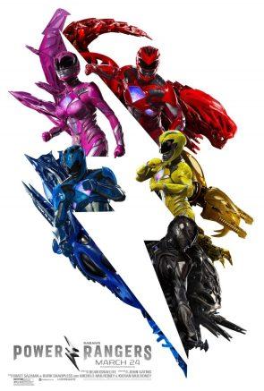 Power Rangers around a bolt